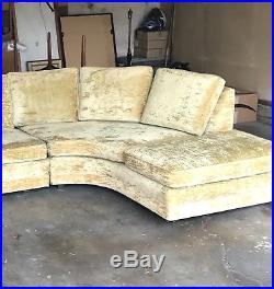 Mid Century Modern Vintage 2 pc Sectional Sofa Excellent original condition