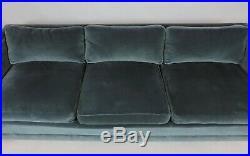 Mid Century Modern Wormley Probber Style Three-Seat Tuxedo Sofa