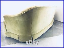Mid Century modern Dorothy Draper Hollywood Regency Vintage Couch Velvet Mcm