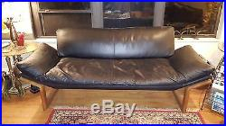Mid-century Modern Danish Teak Leather Teak Sofa By Komfort Vintage From Estate