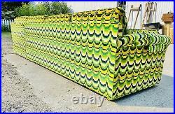 Mid-century Sectional Sofa Jack Larsen Style Fabric
