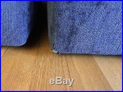 Milo Baughman Sectional Sofa Modular Rare Scalloped Back Mid Century Modern Vtg