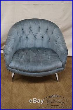 Stupendous Milo Baughman Thayer Coggin Chrome Frame Barrel Back Lounge Forskolin Free Trial Chair Design Images Forskolin Free Trialorg