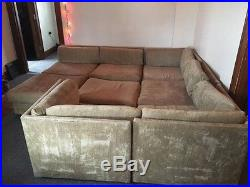 Milo baughman 8 Piece Sectional Sofa Couch Vintage Mid Century Modern