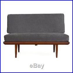 Minerva Danish Modern Loveseat Sofa by Peter Hvidt and Orla Molgaard-Nielson