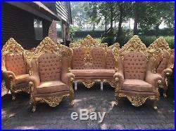 Original Antique Italian Venetian Living Room Set Worldwide Shipping
