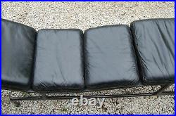 Original Eames Billy Wilder Chaise Lounge Chair Black Leather Herman Miller