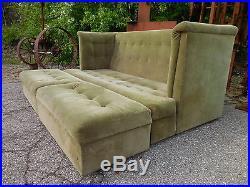 Original Milo Baughman Thayer Coggin SHELTER Sofa withOttomans Mid Century Modern