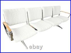 PDXoriginals Airport Bench Herman Miller Whisper Fabric Mid Century Chromcraft