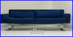 Pair set DUX Erik Jorgensen sofas mid century danish modern vintage 3 seater