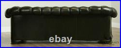 Pendragon Green Tufted Leather Chesterfield Sofa