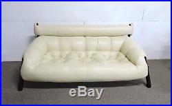 Percival Lafer Mid Century Modern Brazilian Rosewood Sofa New Leather