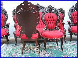 Phenomenal Victorian Meeks Henry Ford Parlor Set