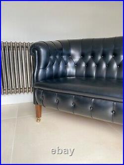 Poltrona Frau Fumoir 2 Seater In Black Leathers