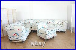 Postmodern Weiman 80s Sectional Pit Sofa Modular Vintage Memphis Milano