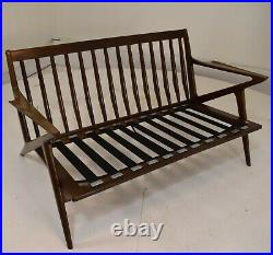 Poul Jensen Settee loveseat sofa chair Mid Century Modern vintage danish selig