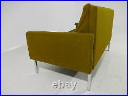 RARE Jens Risom Love Seat/Sofa Chrome Leg Mid 20th Century Modern Knoll Style