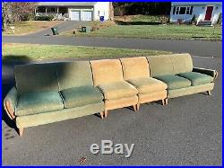RARE Mid Century Heywood Wakefield Couch M560 x2 and M561 x2 156 Total HUGE