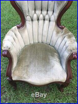 REPRODUCTION VICTORIAN Furniture Set SOFA-King&Queen Chairs etc