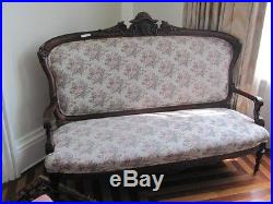 Rosewood American Victorian Antique Sofa 11cc16 Blowout Sale