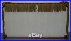 Rare Circa 1810-20 Regency Turkey Work Bluster Arm Window Seat Daybed Sofa