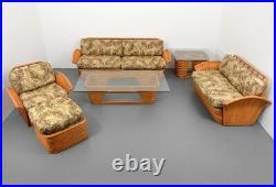 Rare Fan Arm Rattan Living Room Suite, The Golden Girls