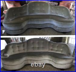 Rare Pair Vintage Dunbar Curved Sofas 2173-A DUNBAR for MODERN 1940s Art Deco
