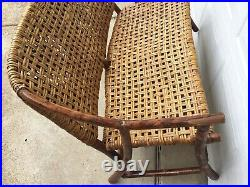 Rare Russel Wright Designed Old Hickory Furniture Company Settee Settle Sofa