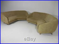 Rare Vintage Original Vladimir Kagan Weiman Preview Tangent Sofa Mid Century Mod