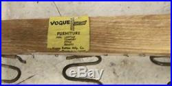 Rattan couch 1950-1960 vintage Vogue with chair
