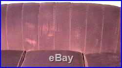 Red Velvet Antique Kidney Shape Couch and Chair
