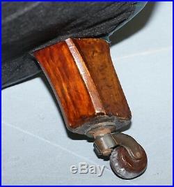 Restored Victorian 1890 Cornelius V Smith Chesterfield Leather Sofa Coil Sprung