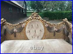 Richly Decorated Louis XVI Sofa/love Seat/settee Worldwide Shipping