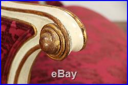 Round Foyer or Ballroom Settee or Sofa, Hand Painted, New Upholstery #29726