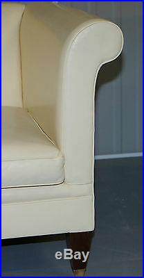 Rrp £10,000 Fully Restored Ralph Lauren Brompton 3 4 Seater Leather Sofa