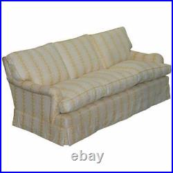 Rrp £12,000 George Smith Scroll Arm Three Seater Sofa Feather Filled Cushions