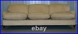 Rrp £13,000 George Smith Scroll Arm Three Seater Sofa Paisley Upholstery Fabric