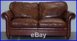 Rrp £2850 Laura Ashley Mortimer 2 Sofa Bed In Vintage Heritage Brown Leather