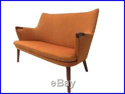 SALE! Authentic Hans Wegner Teak AP20 Sofa Lounge Chair Danish Mid Century Modern