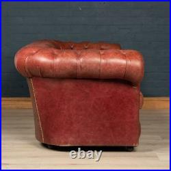SUPERB 20thC CHESTERFIELD LEATHER SOFA WITH BUTTON DOWN SEAT