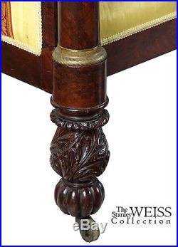SWC-Classical Mahogany Box Sofa, New York, c. 1815, Phyfe