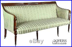 SWC- Mahogany Classical / Sheraton Sofa, New York, c. 1810