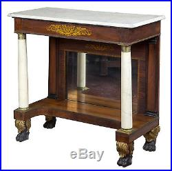 SWC-Rosewood & Marble Pier Table, New York, c. 1830