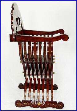 Savonarola Stuhl scherenstuhl Ritterstuhl klappbar Lutherstühle chair Intarsien