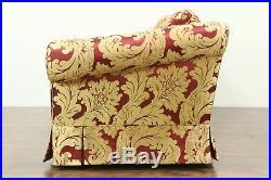 Scalamandre Upholstered Vintage Sofa, Down Cushions #28750