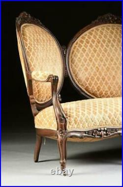 Settee, Louis XV Style, 1840-1870, 19th C, 1800s, Handome Antique PIece