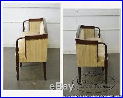 Sheraton Style Bench Made Walnut Petite Sofa Settee