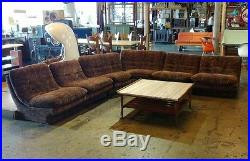 Six Piece Vintage Modular Sofa Couch Sectional by Kagan