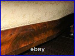 Sofa Couch Empire Antique Camel Back Classic Carved Design Flame Mahogany