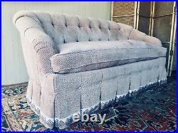Sofa Tufted Baker / Hollowood Regency